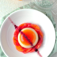 Orange Panna Cotta with Mascarpone cheese