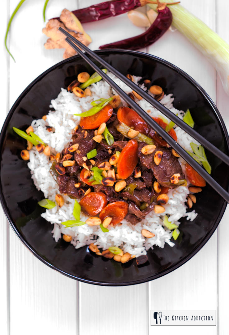 Spicy Beef Stir Fry With Toasted Peanuts